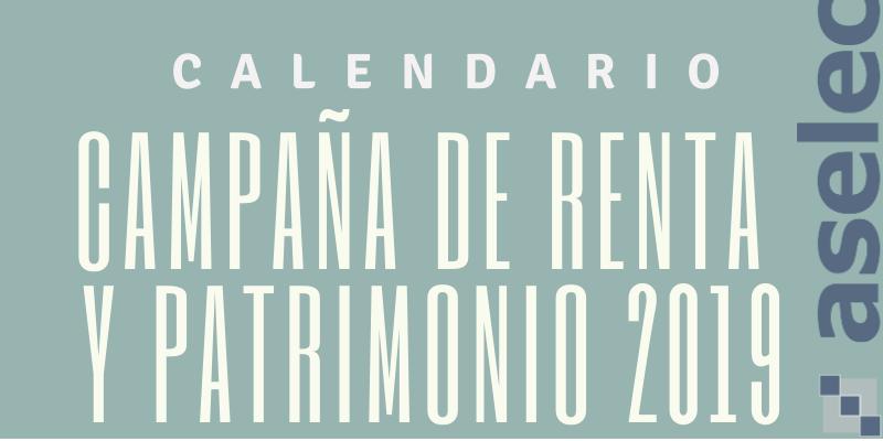 INFOGRAFIA CALENDARIO CAMPAÑA RENTA 2019 copia