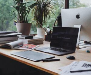 laptop plantas escritorio