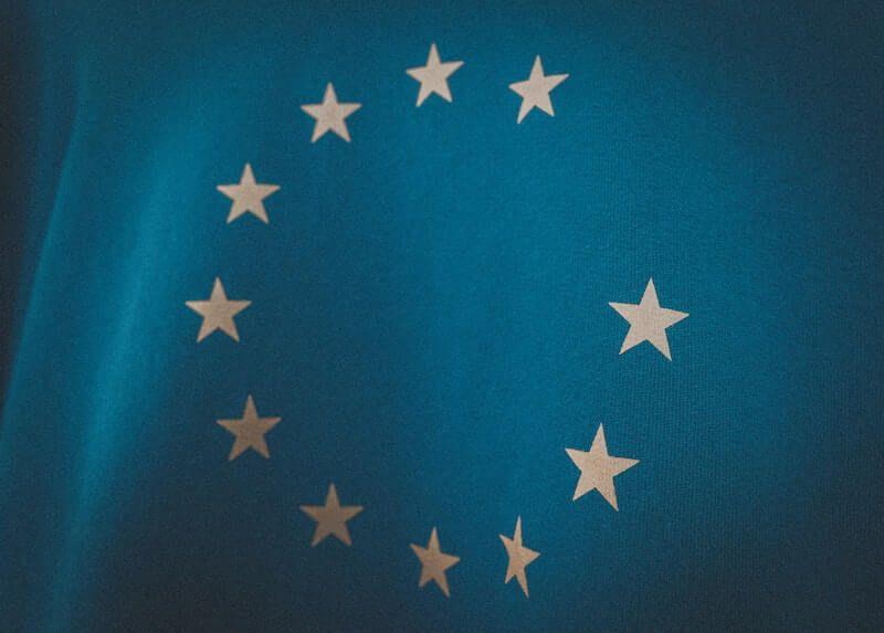 bandera UE sin la estrella de Inglaterra Brexit