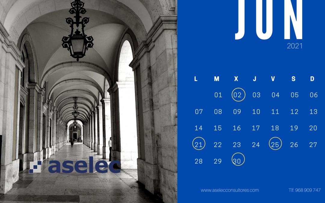 calendario fiscal junio 2021 aselec foto Lisboa